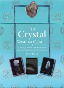 Judy Hall - The Crystal Wisdom Oracle Set (Cards, Guidebook & Carnelian Gemstone)